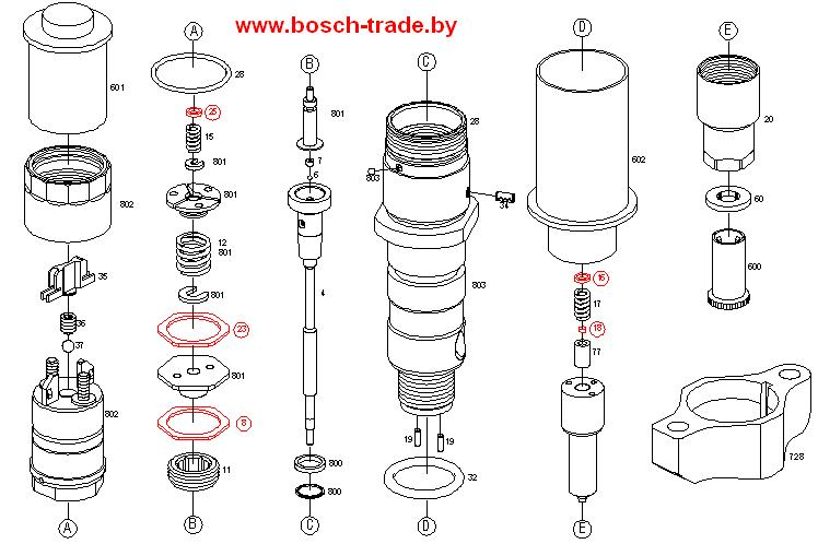 0445120121 форсунка bosch